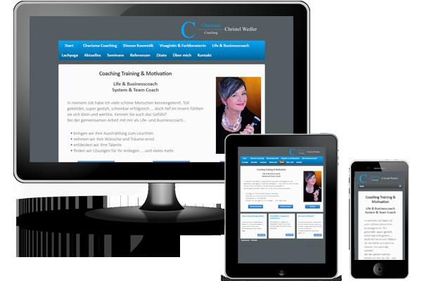 CMS-Webseite mit WordPress - Charisma-Coaching-Wedler.de - Rheda Wiedenbrück