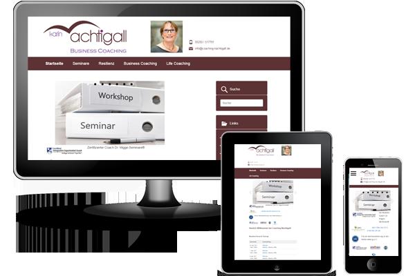 CMS WordPress - Coaching Nachtigall Delbrück