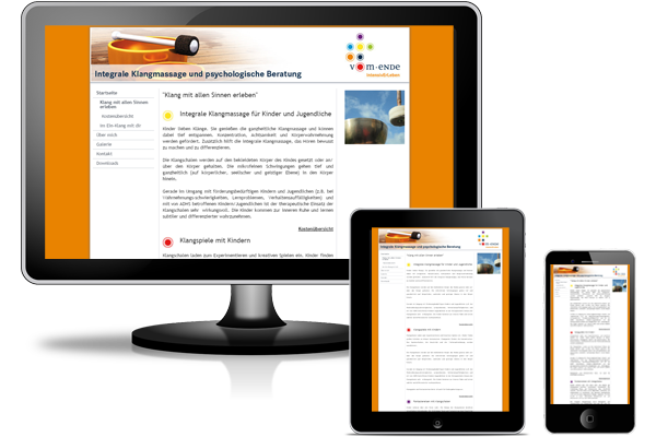 Jimdo Website - Klangmassage-und-Beratung.de