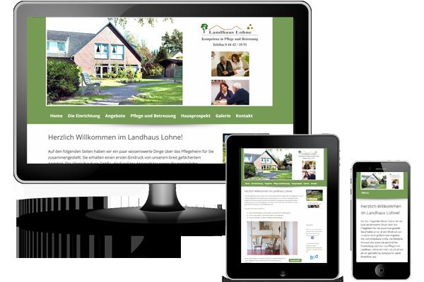 Wordpress Webseite - Pflegeheim Landhaus-Lohne.de
