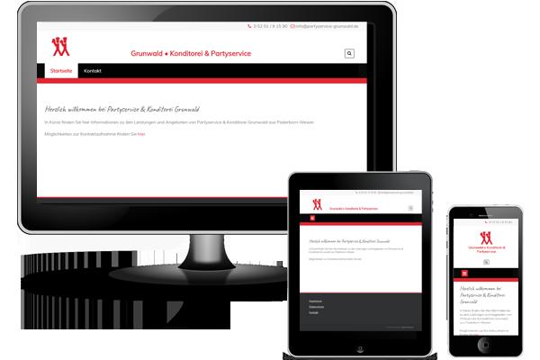 Website erstellt mit CMS WordPress - Partyservice-Grundwald.de
