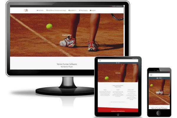 Referenz Webseite Tennisturnier
