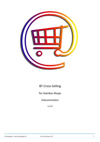 Dokumentation BT-Cross-Selling - Cross Selling Artikel für Gambio-Shops