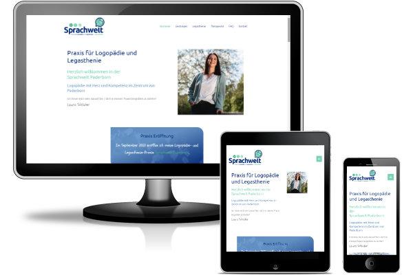 Referenz WordPress Website mit Pagebuilder Elementor, Theme Astra Pro - Sprachwelt Paderborn - Praxis für Logopädie und Legasthenie