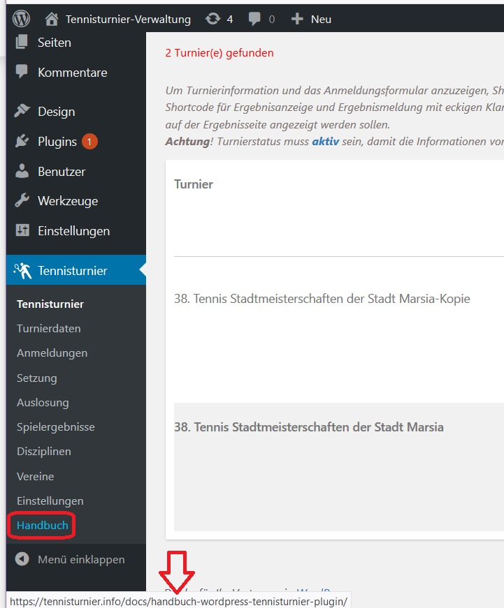 Individuellen LInk im WordPress Plugin Menu im neuen Tab öffnen